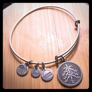 Alex and Ani Seven Swords Charm Bangle - Silver
